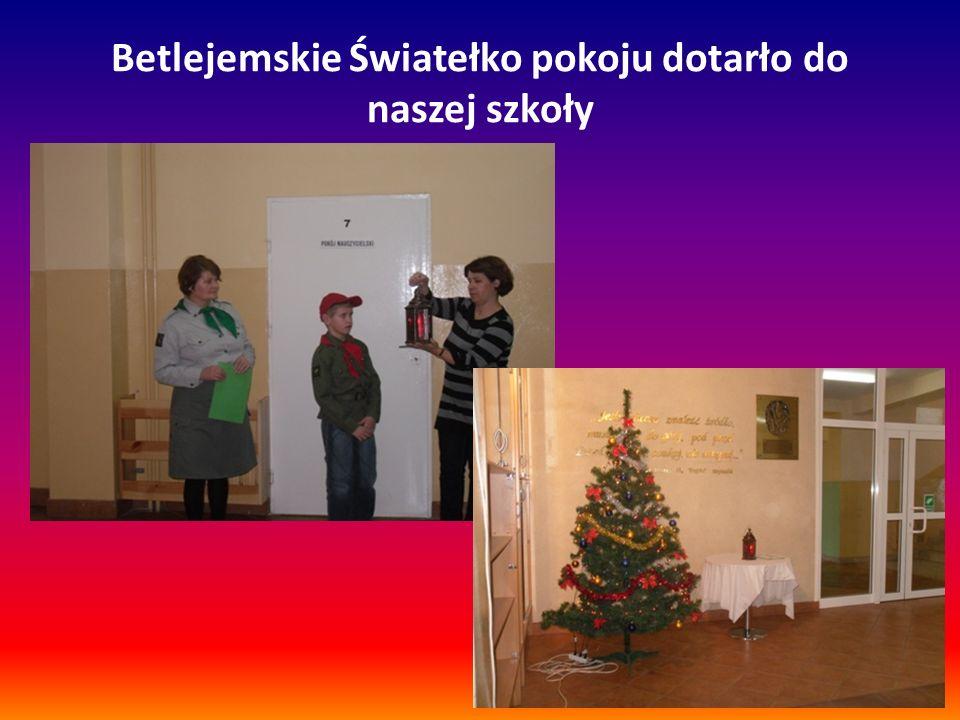 Betlejemskie Światełko pokoju dotarło do naszej szkoły