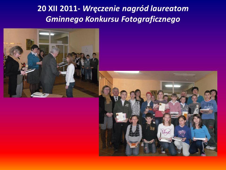 20 XII 2011- Wręczenie nagród laureatom Gminnego Konkursu Fotograficznego