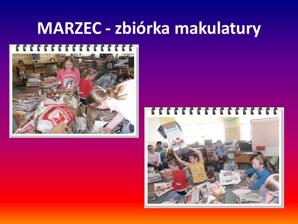 MARZEC - zbiórka makulatury