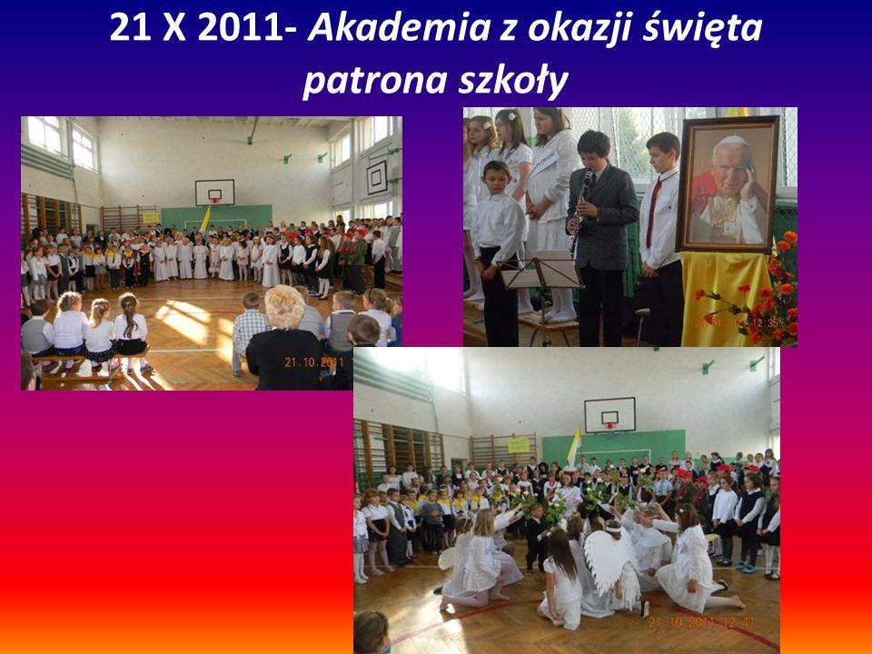 21 X 2011- Akademia z okazji święta patrona szkoły