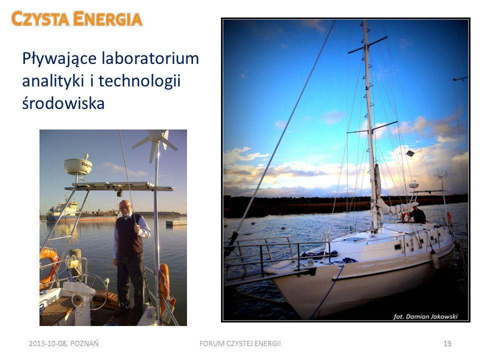 2013-10-08, POZNAŃFORUM CZYSTEJ ENERGII19 Pływające laboratorium analityki i technologii środowiska