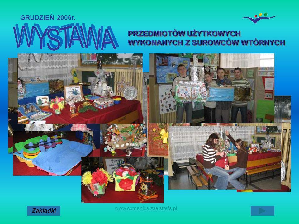 Zakładki www.comenius-zse.strefa.pl PRZEDMIOTÓW UŻYTKOWYCH WYKONANYCH Z SUROWCÓW WTÓRNYCH