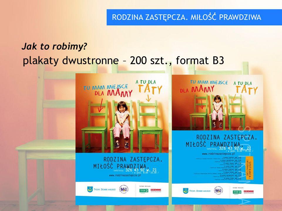 plakaty dwustronne – 200 szt., format B3 Jak to robimy?