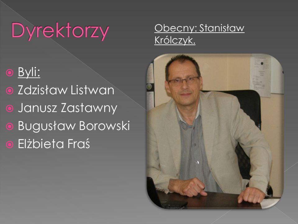 Byli: Zdzisław Listwan Janusz Zastawny Bugusław Borowski Elżbieta Fraś Obecny: Stanisław Królczyk.