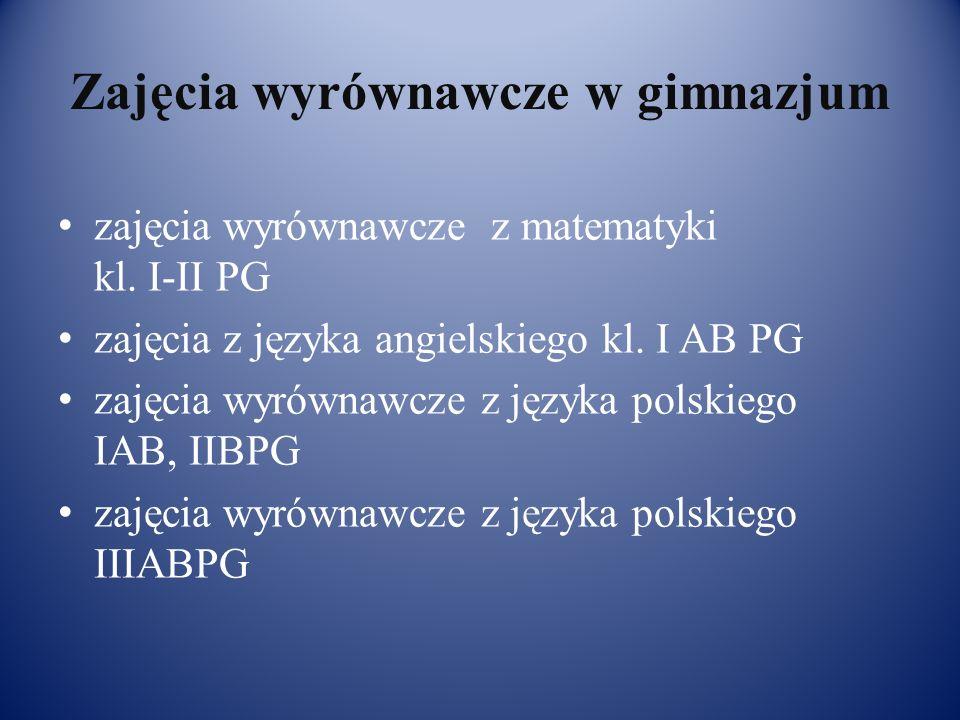 Zajęcia wyrównawcze w gimnazjum zajęcia wyrównawcze z matematyki kl.