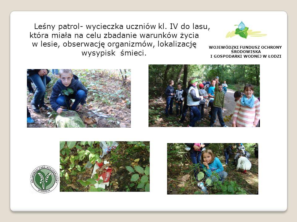 WOJEWÓDZKI FUNDUSZ OCHRONY ŚRODOWISKA I GOSPODARKI WODNEJ W ŁODZI Spotkanie z pracownikiem Nadleśnictwa Grójec panem Miłoszem Powązką- prelekcja na temat lasów naszej gminy wzbudziła duże zainteresowanie, padło wiele pytań i ciekawych odpowiedzi.
