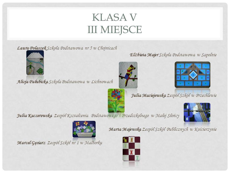 KLASA VI I MIEJSCE Daria Makurat Szkoła Podstawowa im.