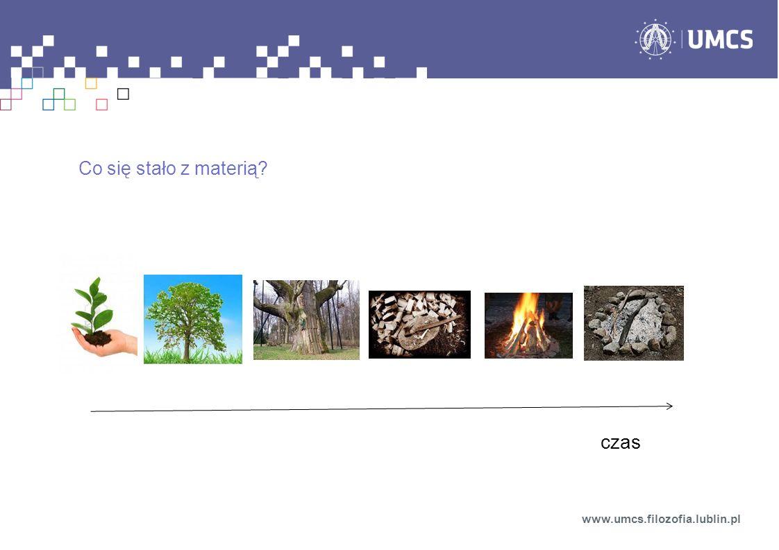 Co się stało z materią? www.umcs.filozofia.lublin.pl czas