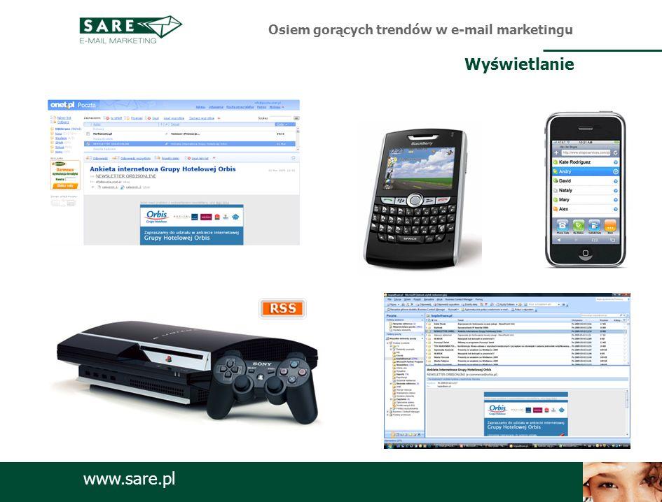 www.sare.pl Osiem gorących trendów w e-mail marketingu Wyświetlanie