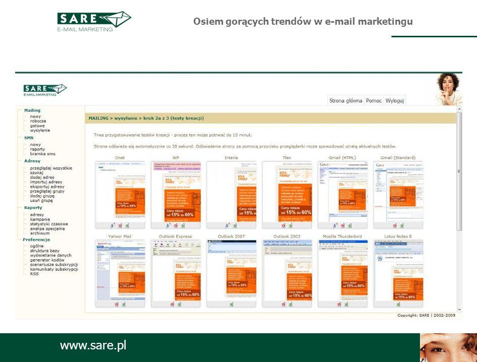 www.sare.pl Osiem gorących trendów w e-mail marketingu