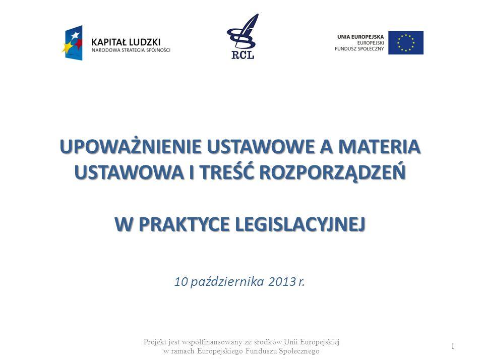 DEFICYT MATERII USTAWOWEJ (PRZYKŁADY) Rządowy projekt ustawy o sporcie w wersji z dnia 5 marca 2009 r.