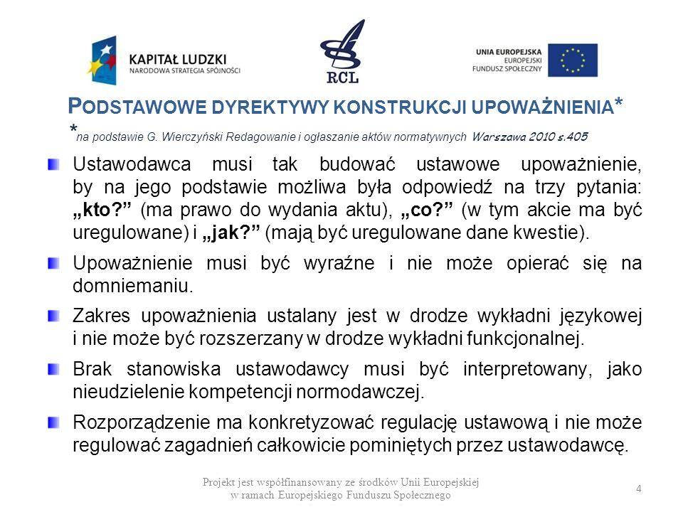 DEFICYT MATERII USTAWOWEJ (PRZYKŁADY) Rządowy projekt ustawy o zawodach pielęgniarki i położnej (uzgodnienia międzyresortowe 2009 r.) Art.