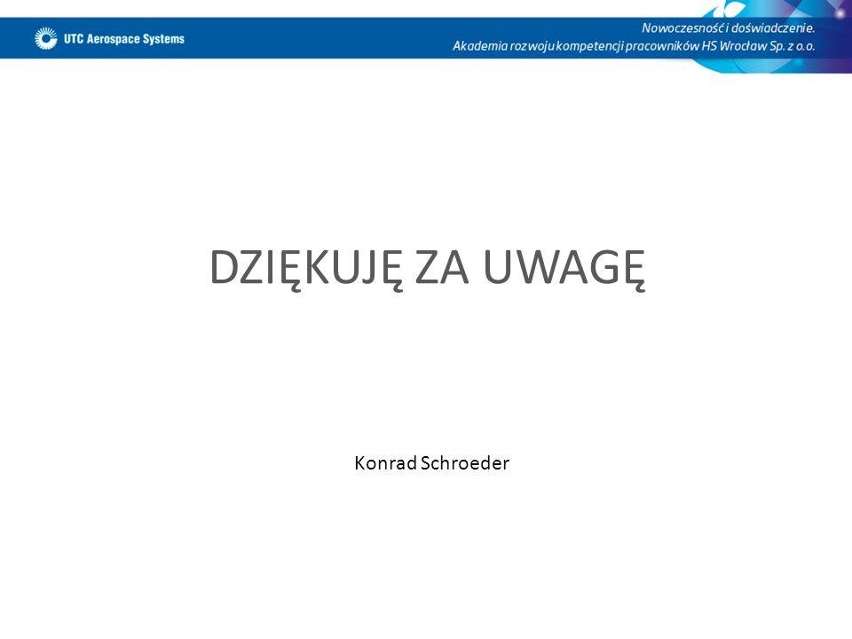 DZIĘKUJĘ ZA UWAGĘ Konrad Schroeder