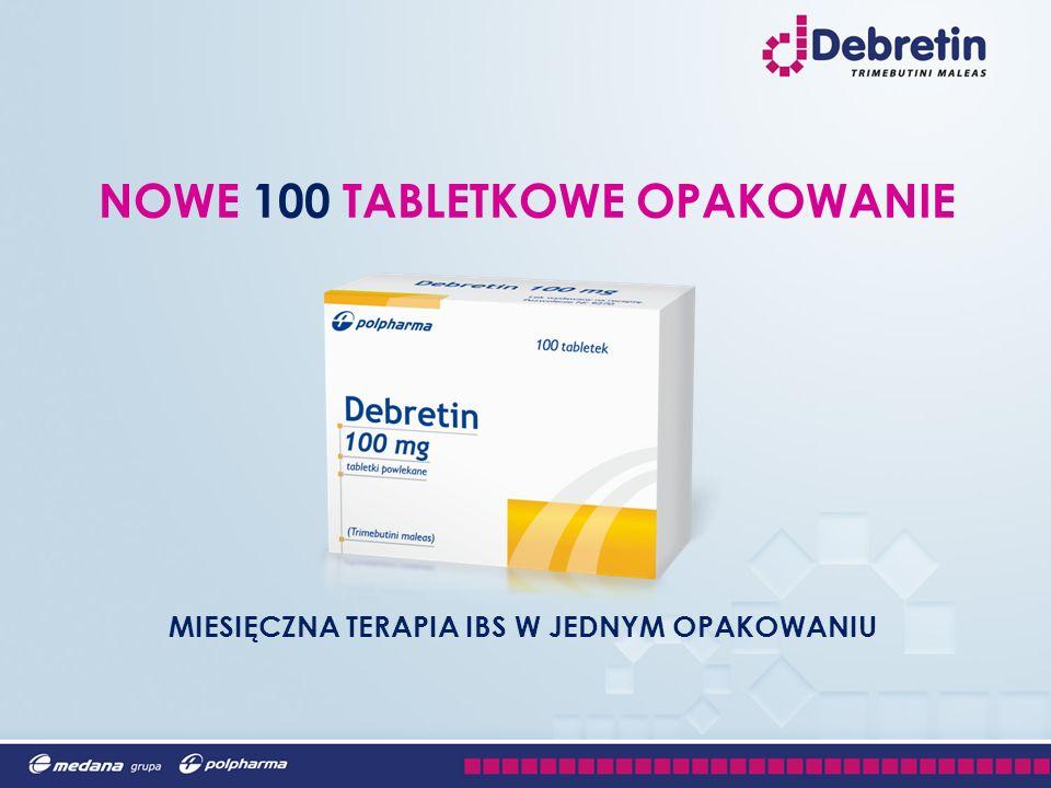 MIESIĘCZNA TERAPIA IBS W JEDNYM OPAKOWANIU NOWE 100 TABLETKOWE OPAKOWANIE
