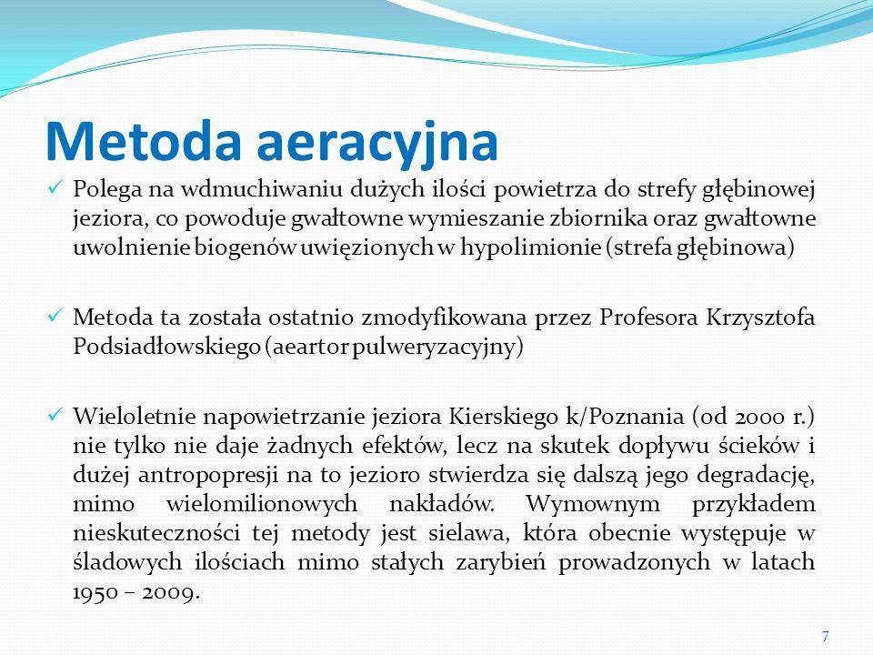 Metoda biomanipulacji Ryby drapieżne są najlepszym regulatorem liczebności niepożądanych w zbiorniku ryb karpiowatych Pozytywne efekty osiągane gdy metodę tę stosuje się jako zabieg uzupełniający Sama tylko rekultywacja biomanipulacyjna nie daje efektów z uwagi na presję wędkarską na ryby drapieżne Pożądane efekty na zbiorniku Malta w Poznaniu 8