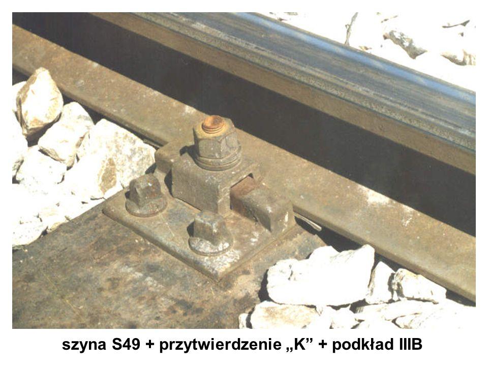 szyna S49 + przytwierdzenie K + podkład IIIB