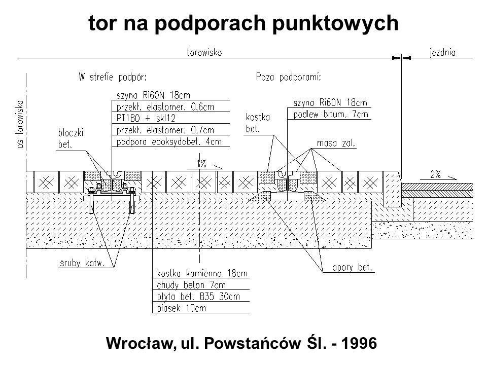 tor na podporach punktowych Wrocław, ul. Powstańców Śl. - 1996