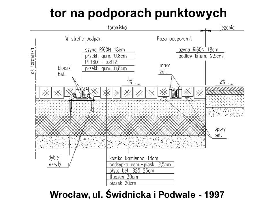 tor na podporach punktowych Wrocław, ul. Świdnicka i Podwale - 1997