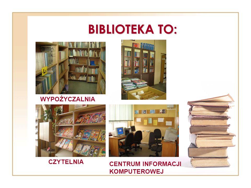 ZBIORY BIBLIOTEKI W naszej bibliotece znajduje się ponad 20 tysięcy książek, z których mogą korzystać uczniowie i nauczyciele.
