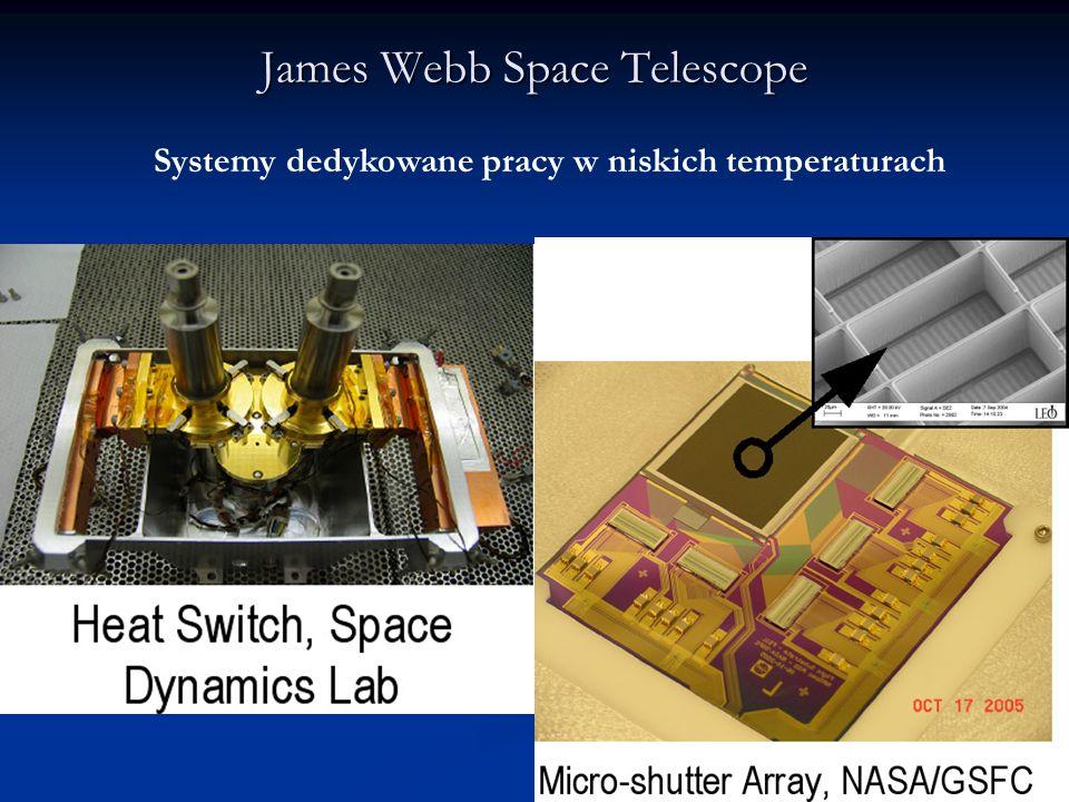 James Webb Space Telescope Systemy dedykowane pracy w niskich temperaturach