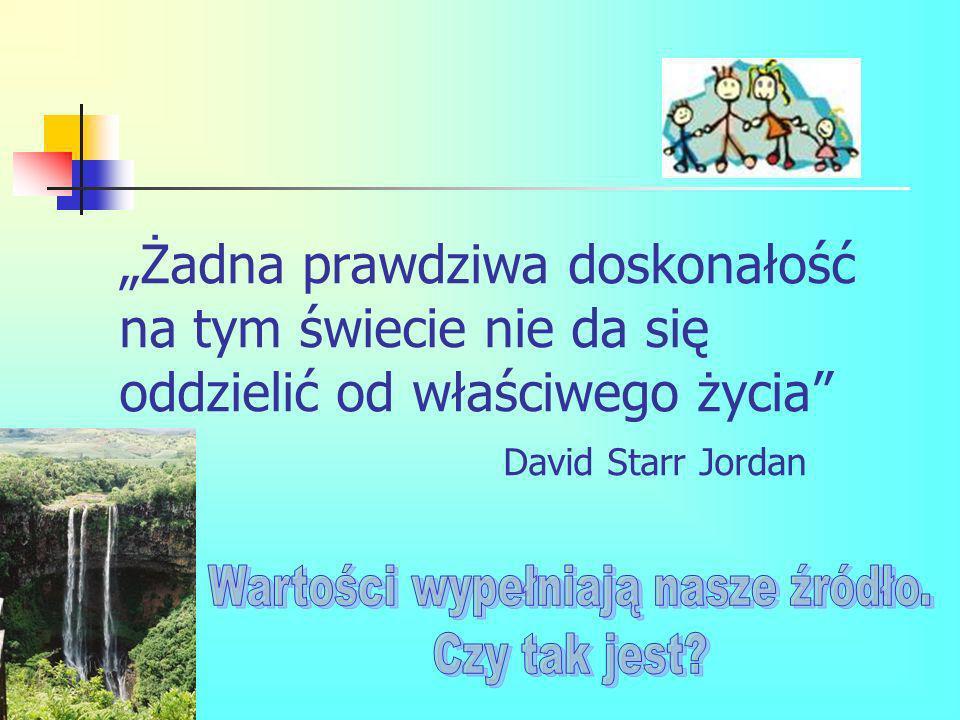 Żadna prawdziwa doskonałość na tym świecie nie da się oddzielić od właściwego życia David Starr Jordan