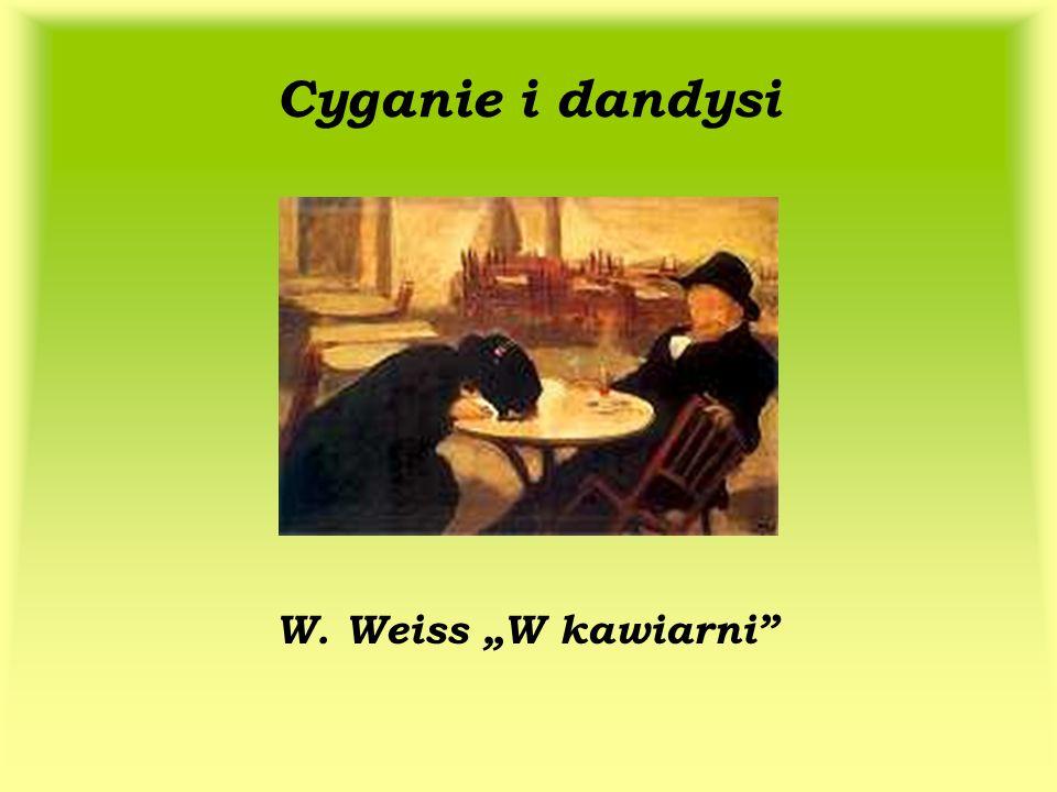 Cyganie i dandysi W. Weiss W kawiarni