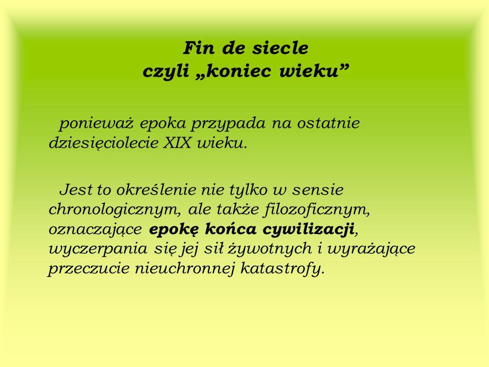 MŁODA POLSKA – nazwa powstała na zasadzie analogii do innych nazw np.