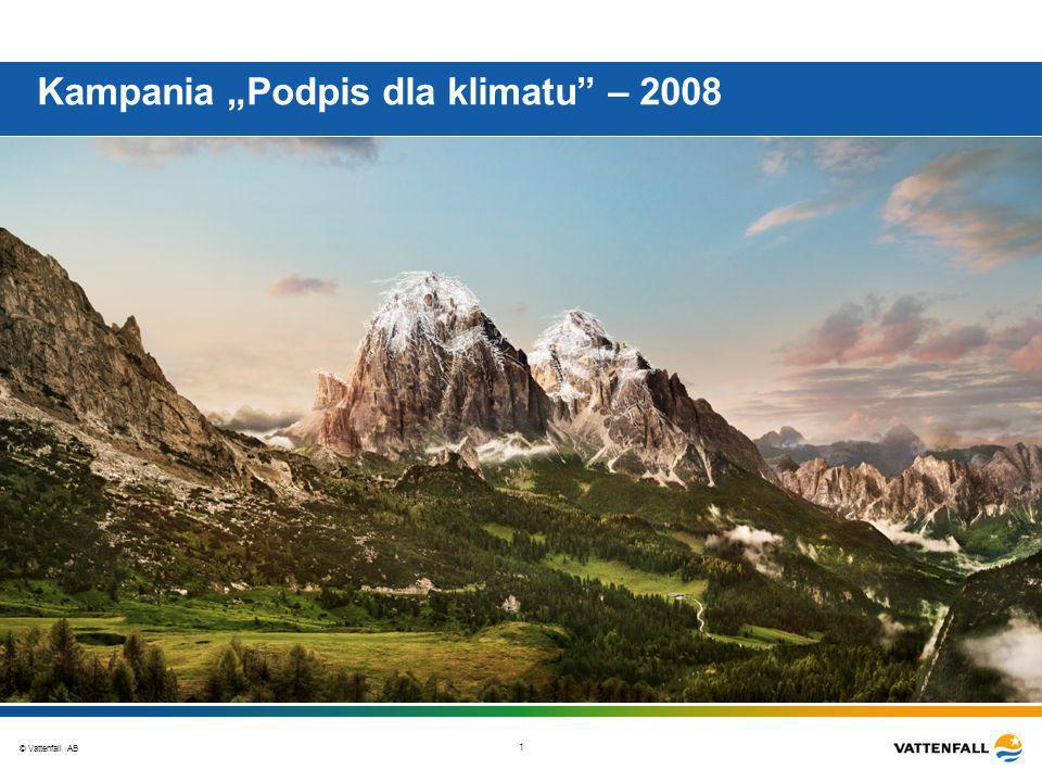 © Vattenfall AB 1 Kampania Podpis dla klimatu – 2008