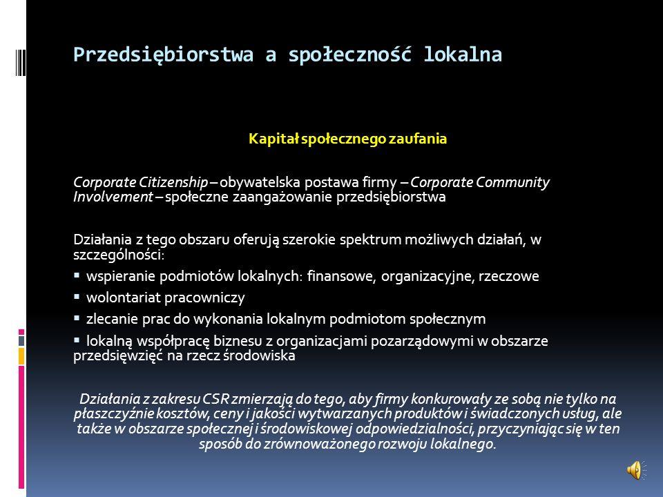 Koncepcja CC (Corporate Citizenship) – zaangażowanie biznesu na rzecz społeczności lokalnej