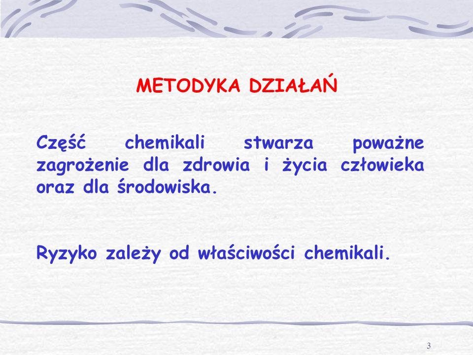 2 BEZPIECZEŃSTWO CHEMICZNEGO Dotyczy: wytwarzania,przetwarzania,dystrybucji, transportu,składowania oraz stosowania chemikali.
