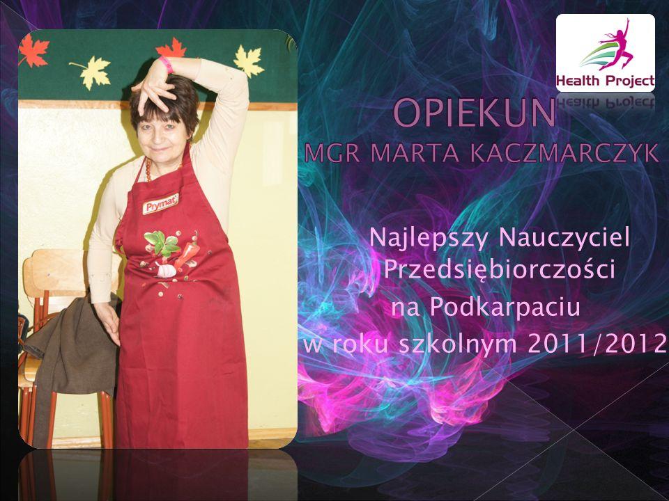 Najlepszy Nauczyciel Przedsiębiorczości na Podkarpaciu w roku szkolnym 2011/2012