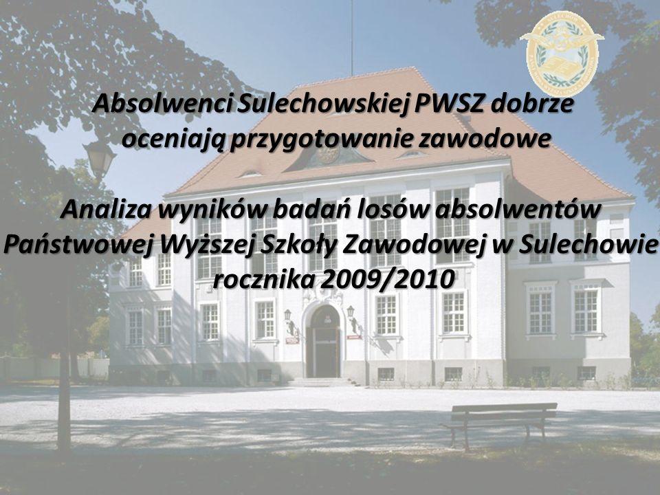 Absolwenci Sulechowskiej PWSZ dobrze oceniają przygotowanie zawodowe oceniają przygotowanie zawodowe Analiza wyników badań losów absolwentów Państwowej Wyższej Szkoły Zawodowej w Sulechowie rocznika 2009/2010