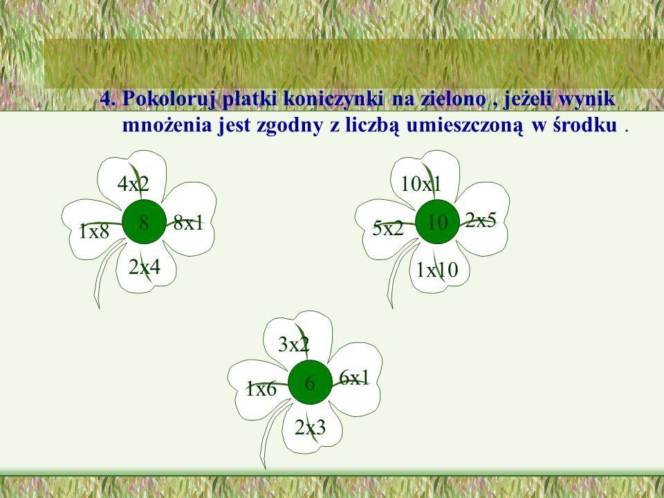 3. Połącz słoneczka z odpowiednimi chmurkami. 4x1 3x22x4 1x55x2 8106 54