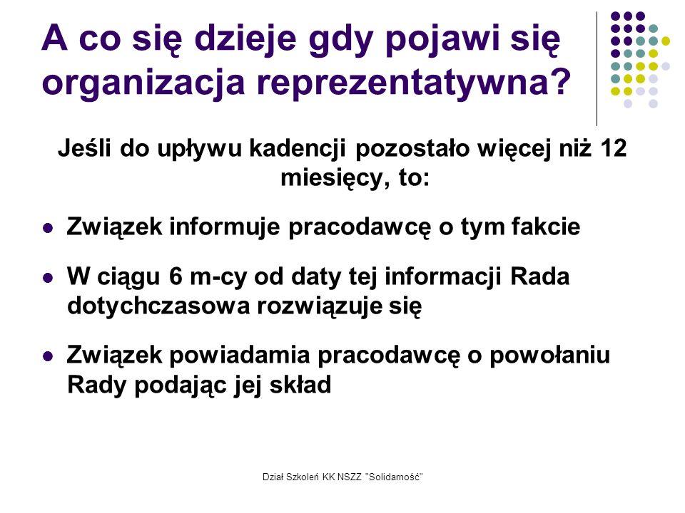 Dział Szkoleń KK NSZZ