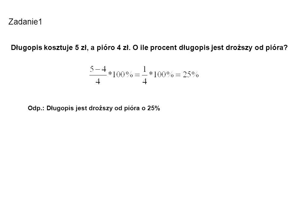 Zadanie 2 Jaki procent wszystkich liter w wyrazie MATEMATYKA stanowi litera A.