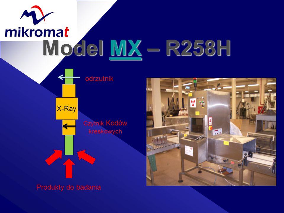 Model MX – R258H MX X-Ray Czytnik Kodów kreskowych Produkty do badania odrzutnik