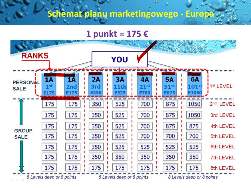 Schemat planu marketingowego - Europa 1 punkt = 175
