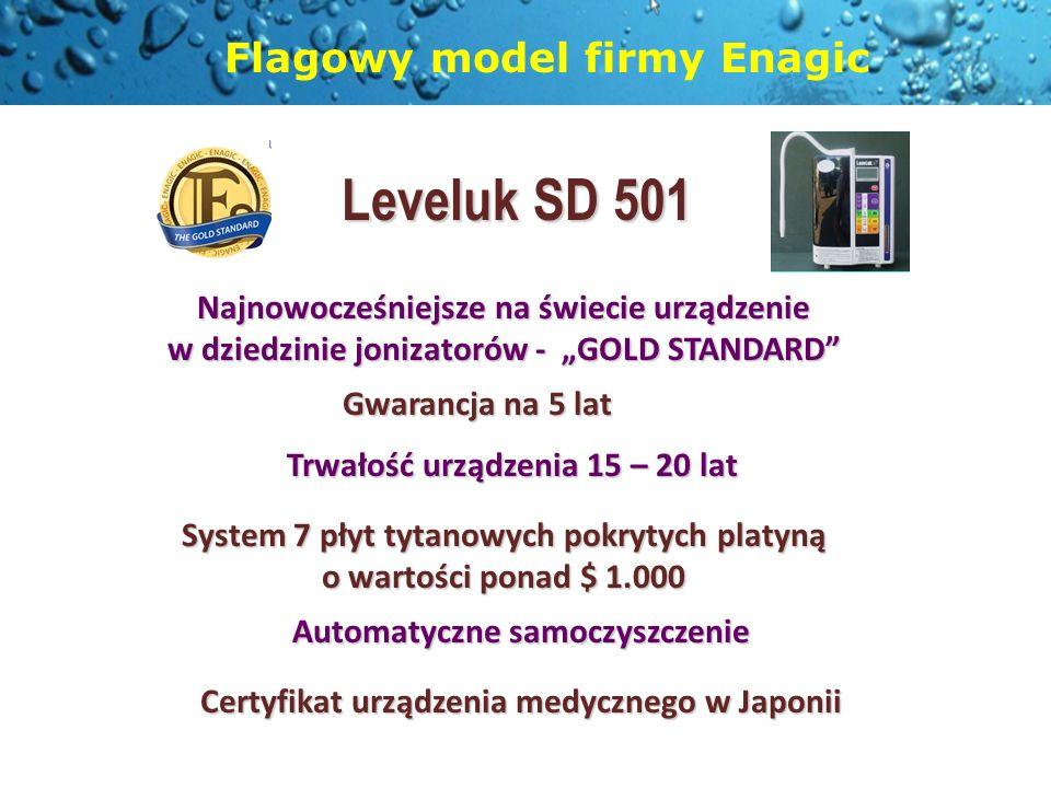 Flagowy model firmy Enagic Leveluk SD 501 Najnowocześniejsze na świecie urządzenie w dziedzinie jonizatorów - GOLD STANDARD Gwarancja na 5 lat Trwałoś