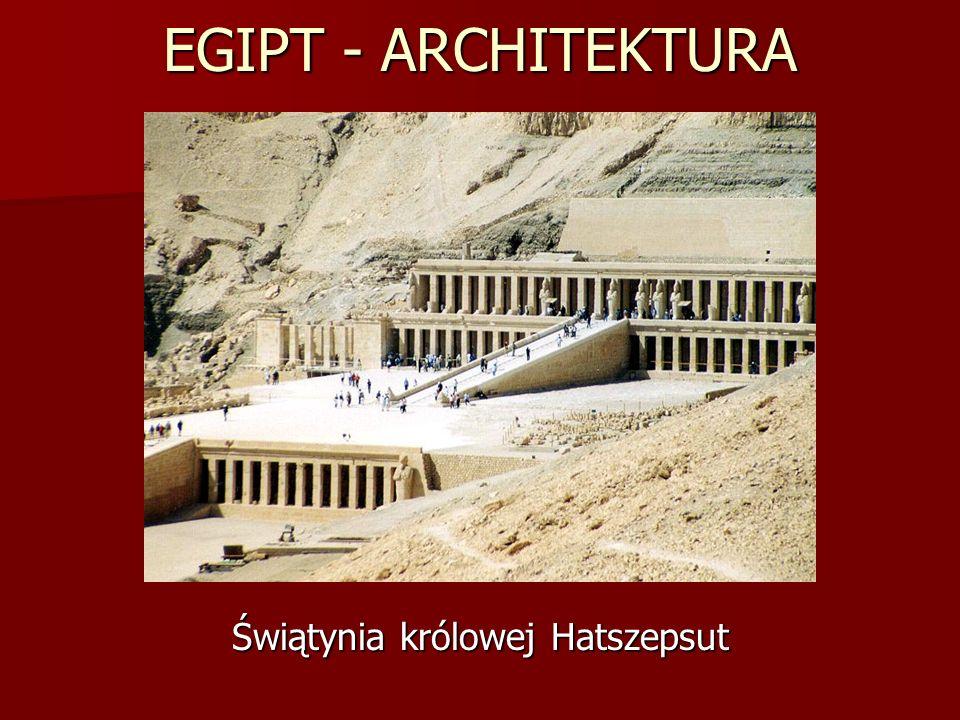 EGIPT - ARCHITEKTURA Świątynia królowej Hatszepsut