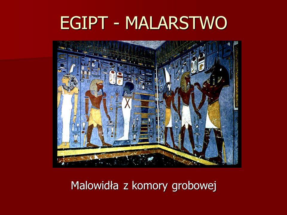 EGIPT - MALARSTWO Malowidła z komory grobowej