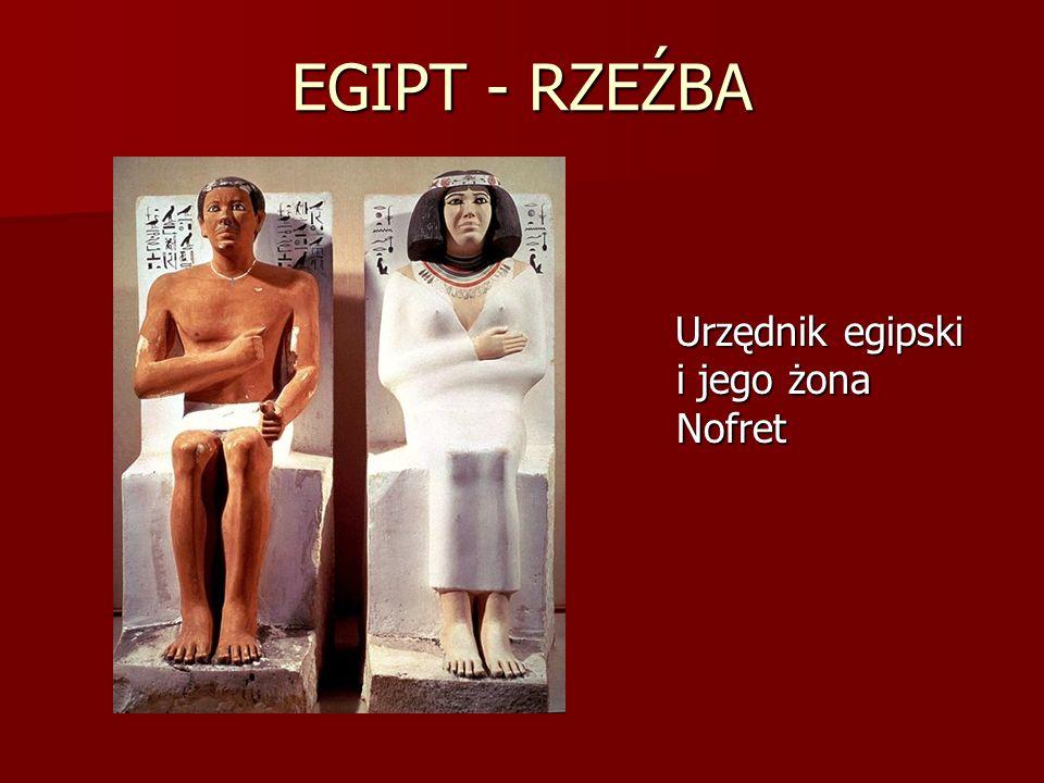 EGIPT - RZEŹBA Urzędnik egipski i jego żona Nofret Urzędnik egipski i jego żona Nofret