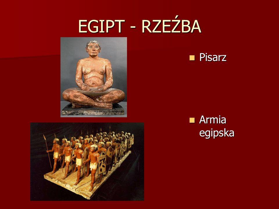 EGIPT - RZEŹBA Pisarz Pisarz Armia egipska Armia egipska