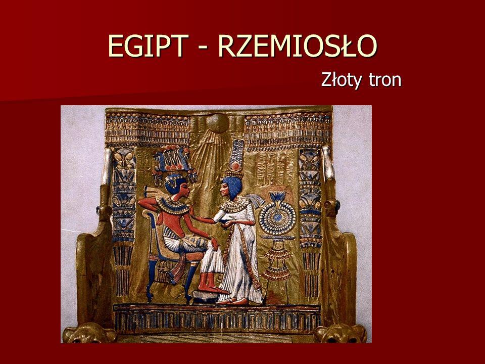 EGIPT - RZEMIOSŁO Złoty tron