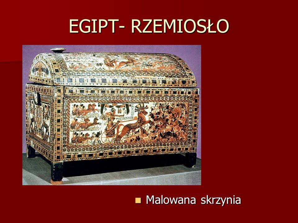 EGIPT- RZEMIOSŁO Malowana skrzynia Malowana skrzynia