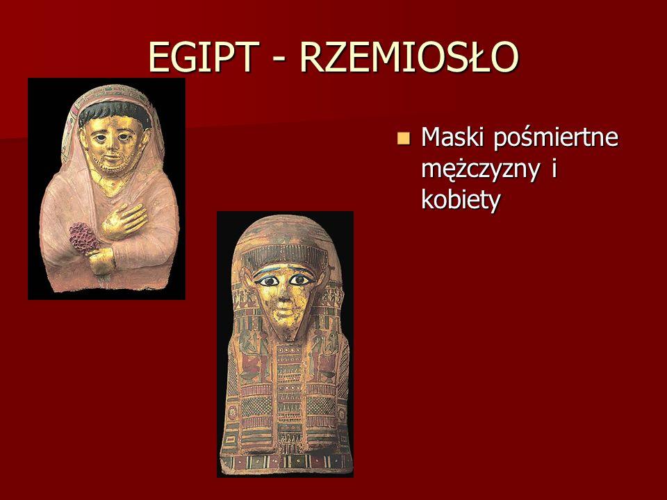 EGIPT - RZEMIOSŁO Maski pośmiertne mężczyzny i kobiety Maski pośmiertne mężczyzny i kobiety
