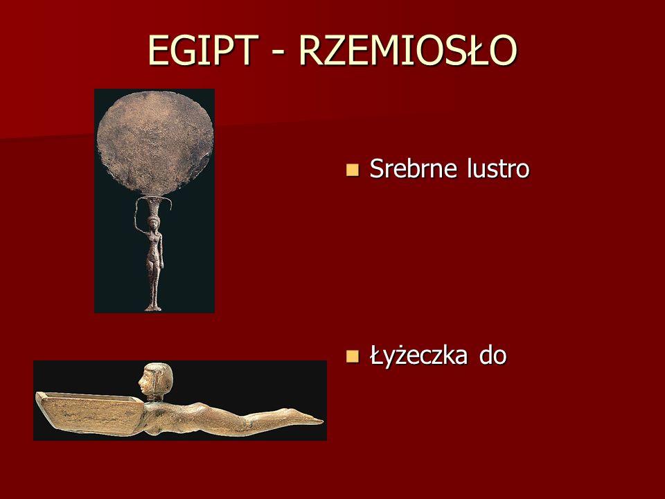 EGIPT - RZEMIOSŁO Srebrne lustro Srebrne lustro Łyżeczka do Łyżeczka do