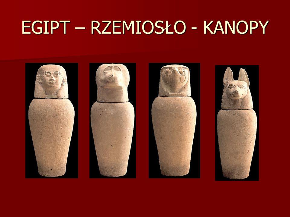 EGIPT – RZEMIOSŁO - KANOPY