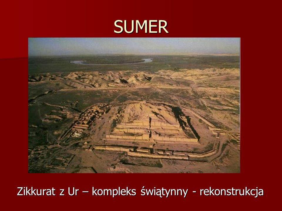 SUMER Zikkurat z Ur – kompleks świątynny - rekonstrukcja