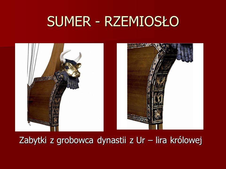 SUMER - RZEMIOSŁO Zabytki z grobowca dynastii z Ur – lira królowej