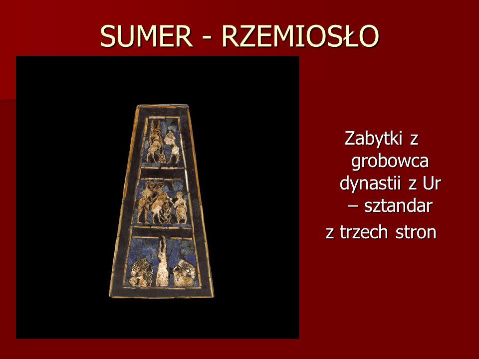 SUMER - RZEMIOSŁO Zabytki z grobowca dynastii z Ur – sztandar z trzech stron